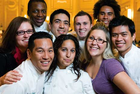 Group of young chefs